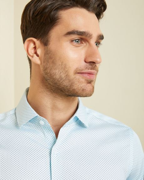 Tailored fit dotted dress shirt