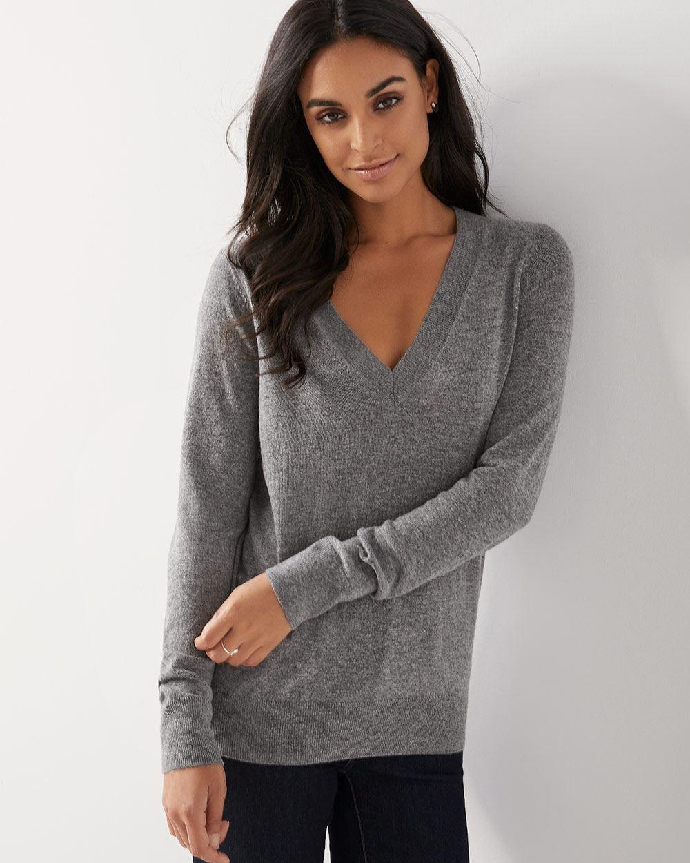 bf676d8341e Cashmere-like V-neck sweater
