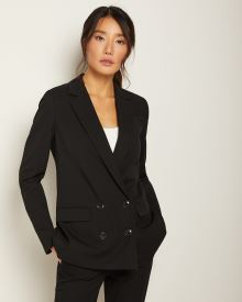 Stretch Loose fit double-breasted blazer