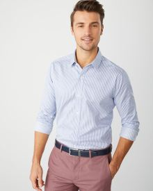 Tailored fit pinstripe dress shirt