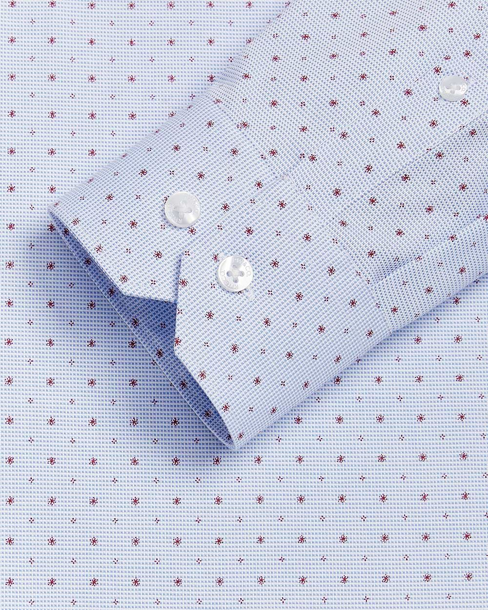 Slim Fit mini asterisk Dress Shirt