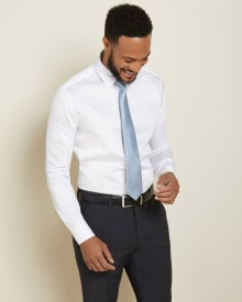 Tailored Fit micro lozenge dress shirt