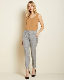 Plaid Signature fit Slim Leg Ankle Pant