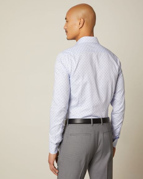 Essential Slim fit geo dress shirt - Short