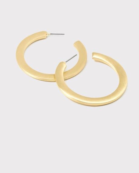 Brushed hoop earrings