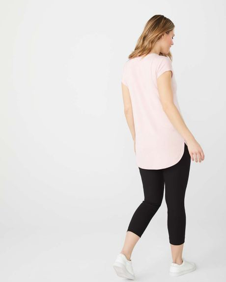 Loose-fit French terry t-shirt