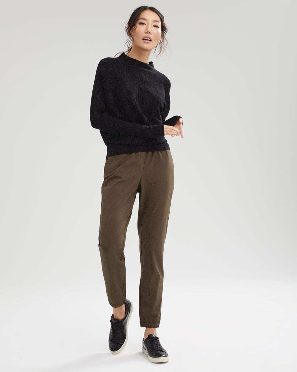 Funnel-neck Cashmere-Like Sweater