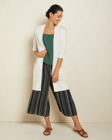Light cashmere-like elbow-length sleeve cardigan
