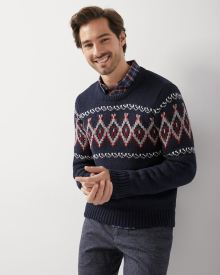 Fair isle crew-neck sweater