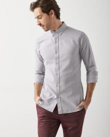 Slim fit basket weave shirt