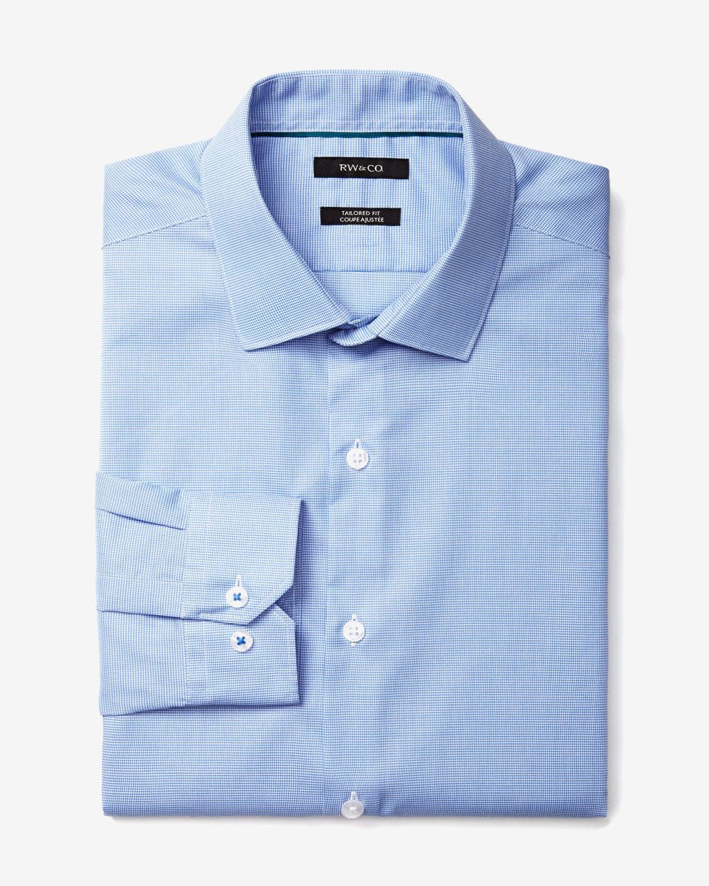Two tone tailored fit dress shirt rw co for Tailoring a dress shirt