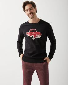 Jacquard car crew-neck sweater