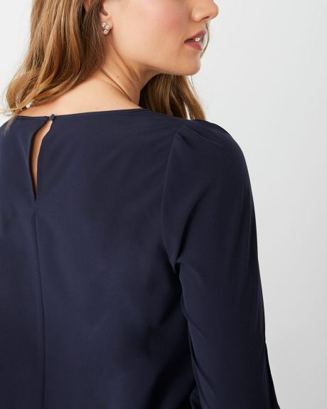 Long sleeve popover blouse