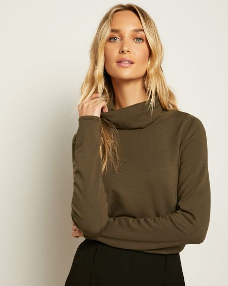 Fleece Turtleneck T-Shirt