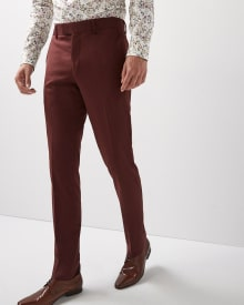 Slim Fit Deep Red Pant - Short
