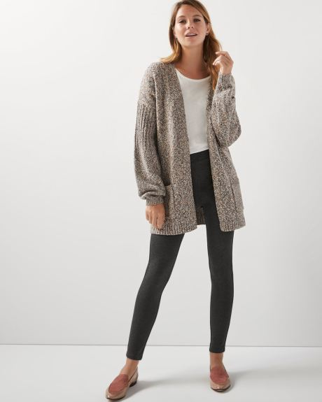C&G Belted ribbed cardigan