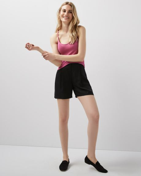 Pleated Tencel Short