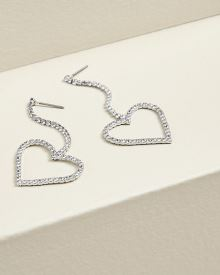 Dangling Heart statement earrings