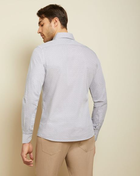 Tailored fit micro leaves shirt