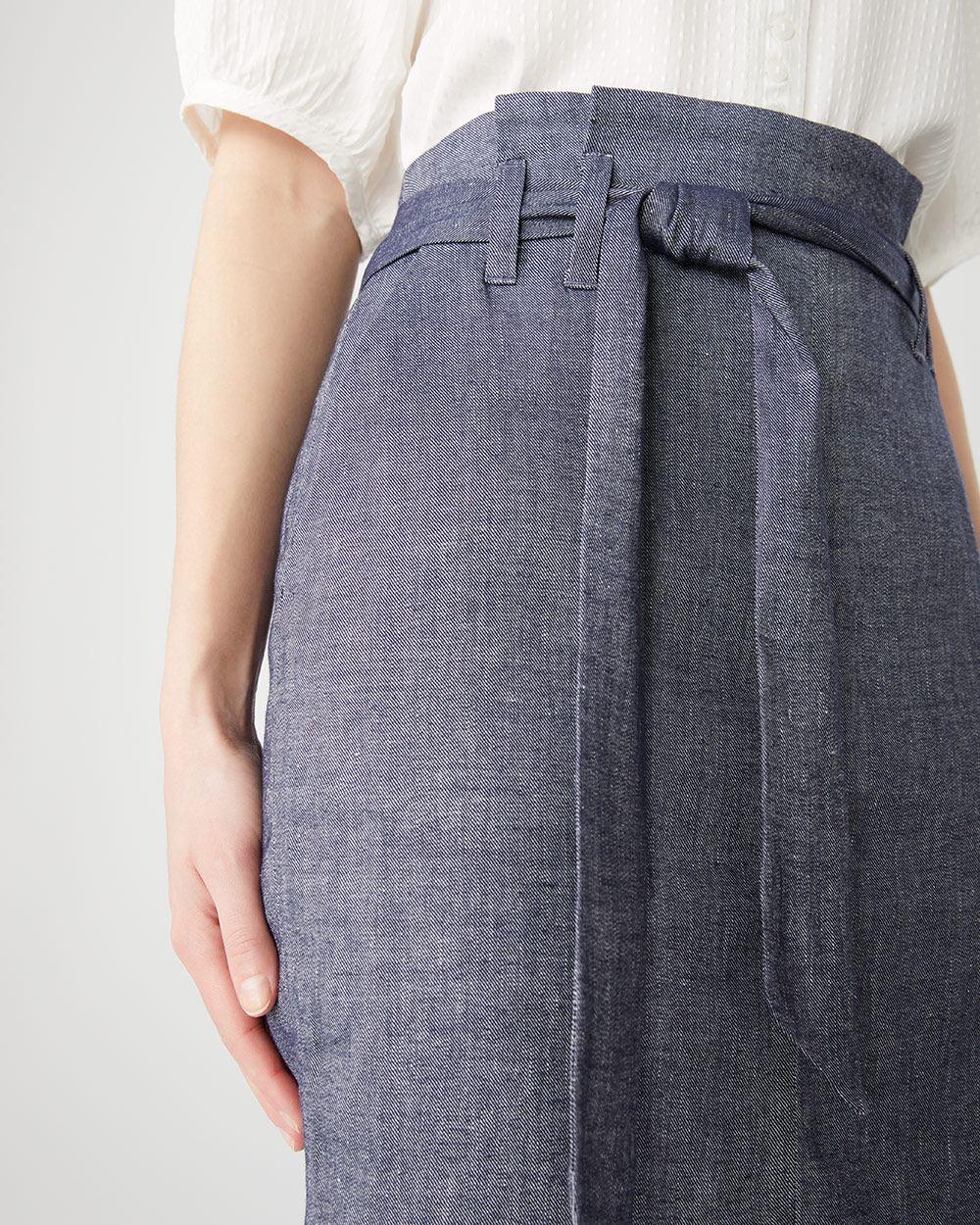 22a3b05bc6 Chambray Paper Bag skirt with sash   RW&CO.