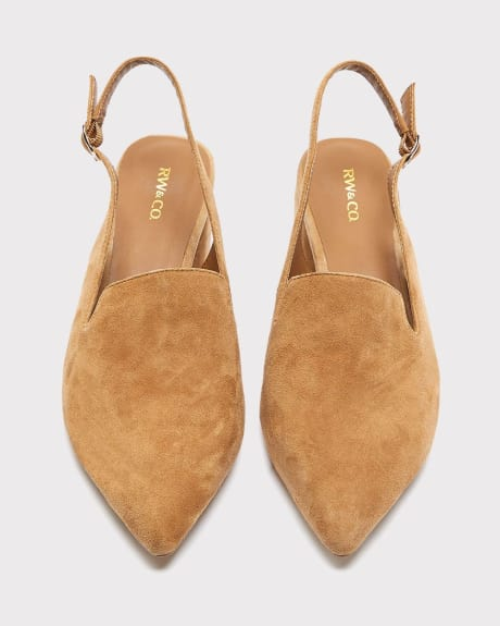 Suede Sling back shoe