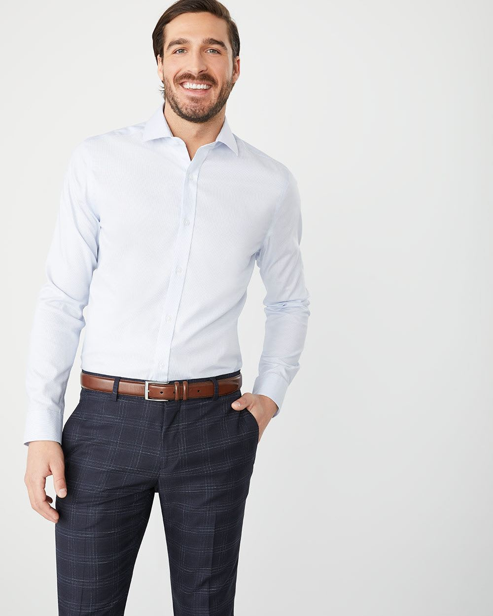 Tailored Fit tonal dress shirt