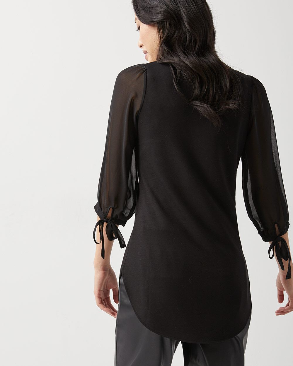 C&G Sheer voluminous sleeve tunic t-shirt