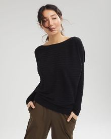 Boat-neck Cashmere-Like Sweater
