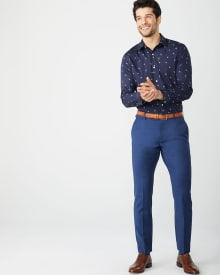 Athletic Fit dandelion print dress shirt