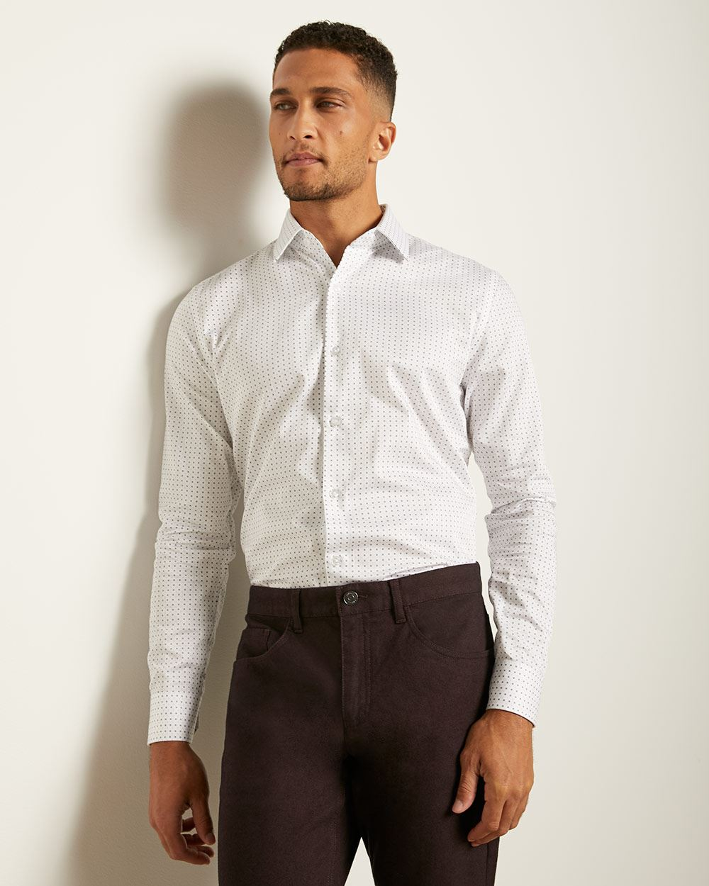 Tailored Fit Mosaic Dress Shirt