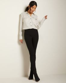 High-waist legging pant with cuffed hem