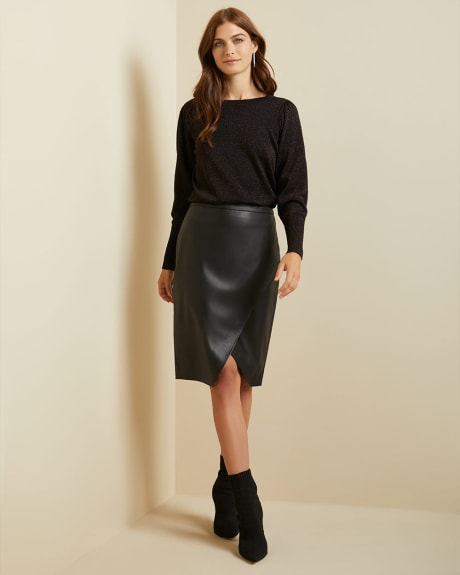 Round-neck Lurex sweater