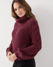 Cropped Cowl-neck sweater