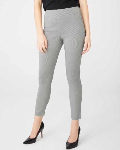C&G Black and White Houndstooth City legging - 28''