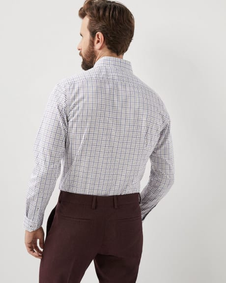Tailored fit checkered dress shirt - Short