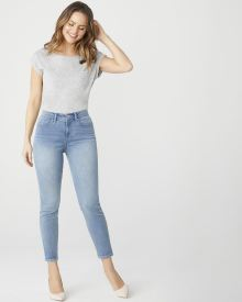 Natalie Mid-rise ankle jegging in light wash denim