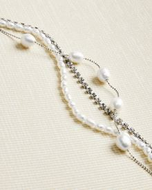 Pearls and Rhinestones Multi-row bracelet
