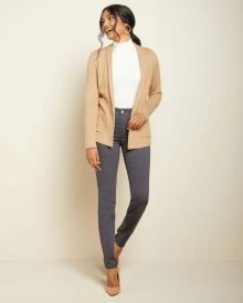 Shawl collar knit blazer