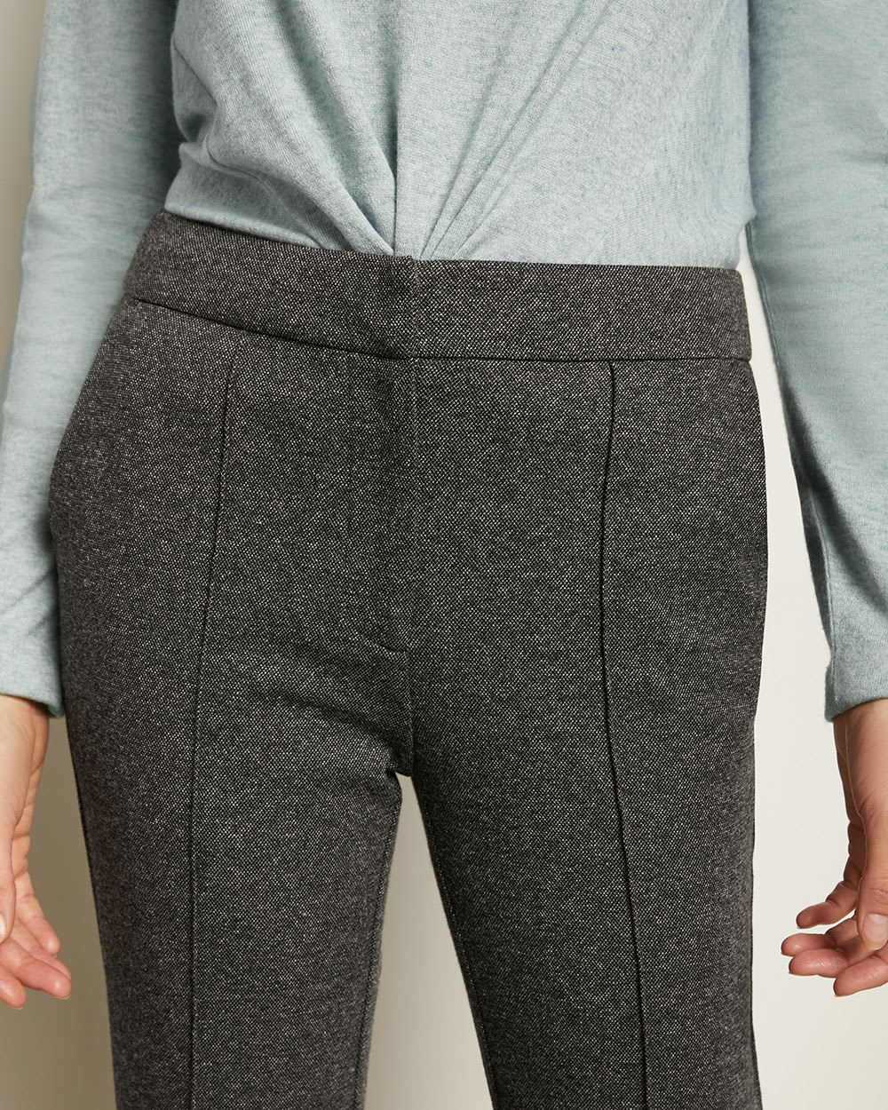 C&G Two-Tone Tweed Knit Jogger Pant