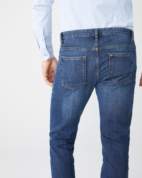 Straight leg premium medium wash Jeans