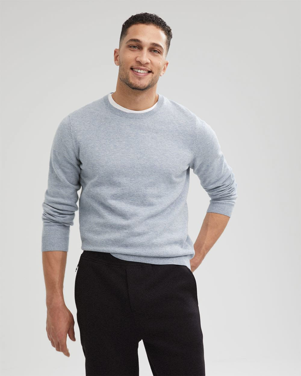 Jersey Stitch Crew-Neck Sweater