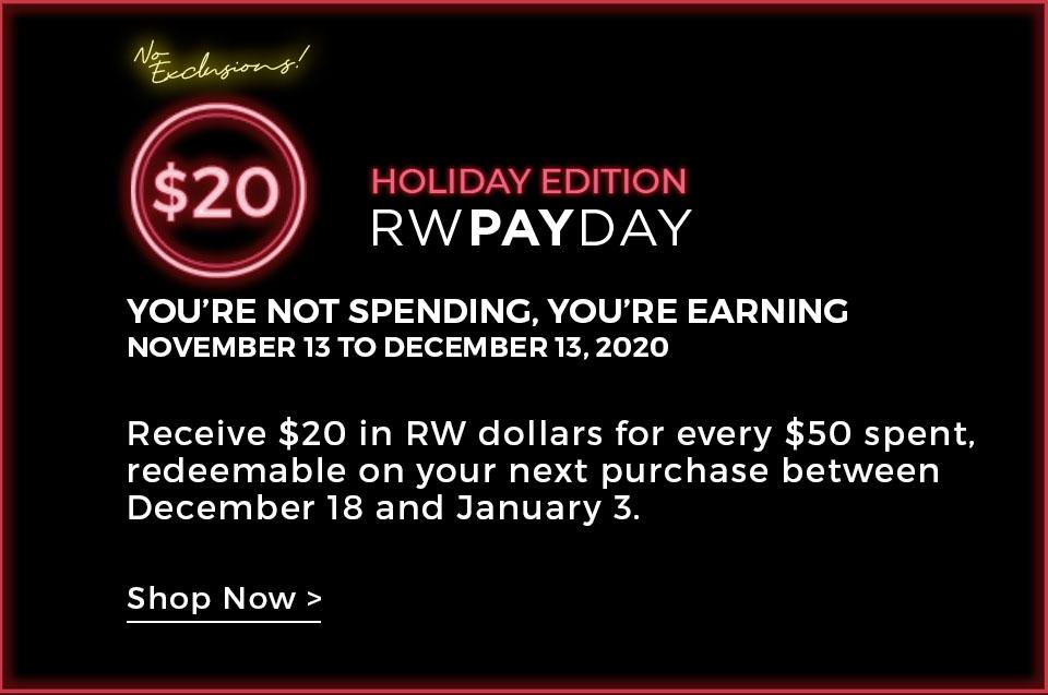 20 $ en dollars RW&CO.