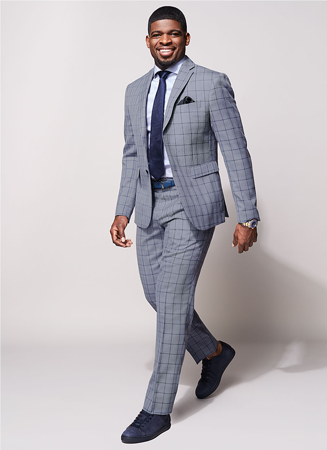 PK Subban in a Window Pane Suit