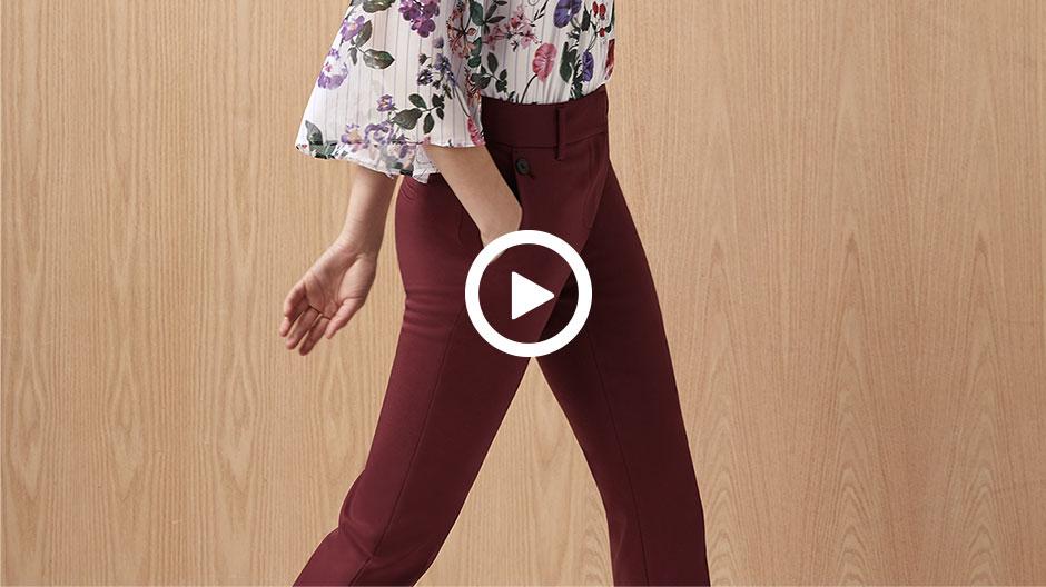 Le pantalon évasé écourté
