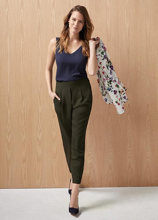 Le pantalon plissé