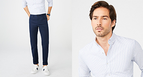 Men's Shirts, Chinos & 5-Pocket Pants Buy 2 for $59.90 each