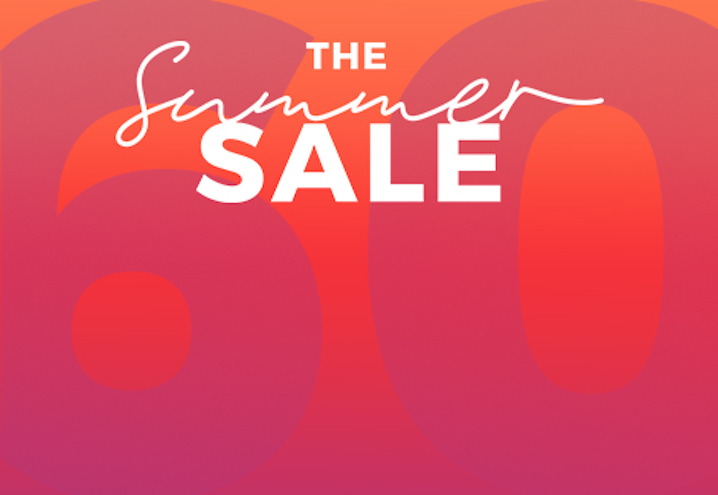 The summer sale. Up to 60% off + extra 20% off*