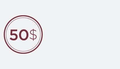 Obtenez 50 $ pour chaque tranche de 50 $ dépensée