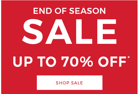 End of season sale. Up to 70% off.