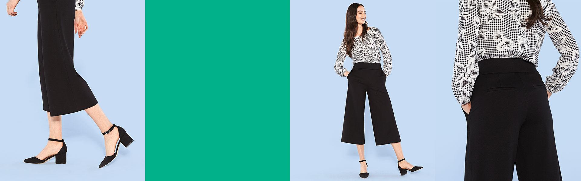 Pantalon Large Écourté